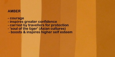 Symbolic meaning and description of different shades of the color amber