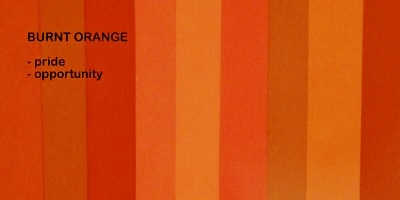 Symbolic meaning and description of different shades of the color burnt orange