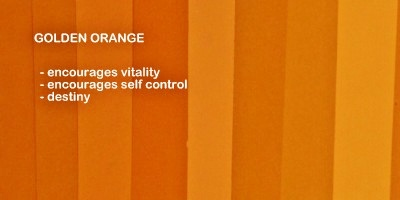 Symbolic meaning and description of different shades of the color golden orange
