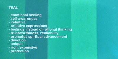 Symbolic meaning and description of different shades of the color teal