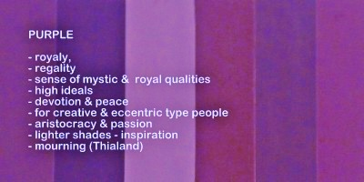 Symbolic meaning and description of different shades of the color purple