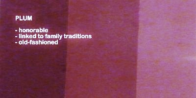 Symbolic meaning and description of different shades of the color plum