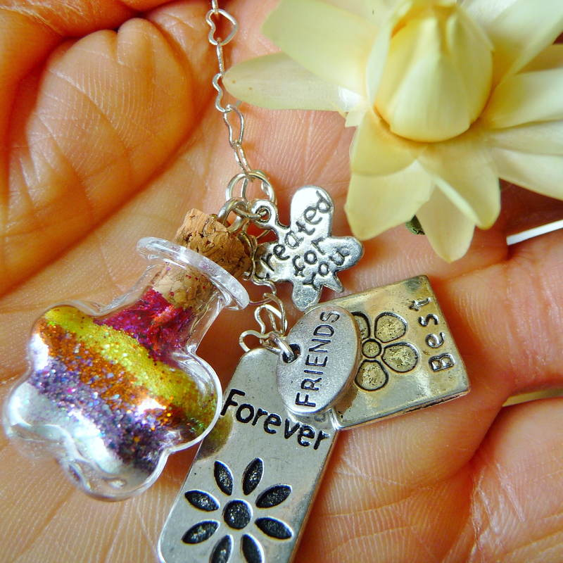 really great closeup of best friends forever wish vessel with beautiful layers of pixie dust: shaped like a flower