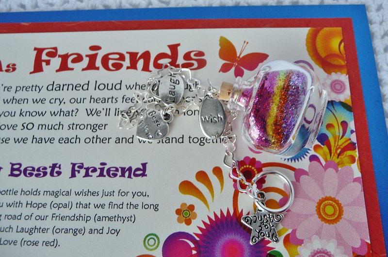 best friend wish vessel lying on it's side atop the verse card