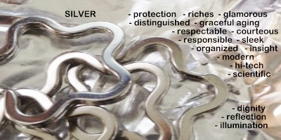 Symbolic meaning and description of different shades of the color silver