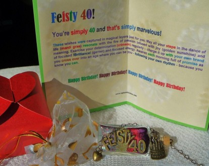 Memorable and unique 40th birthday gifts from Captured Wishes