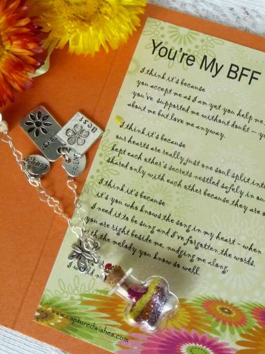 Celebrate your BFF Best Friends Forever with our adorable Captured Wishes gift vessel