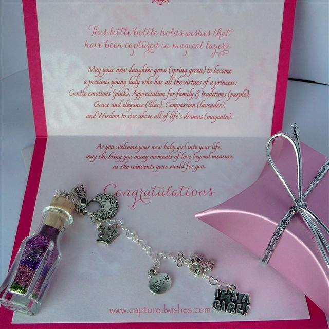 Sugar and Spice Captured Wish makes a great gift for baby showers where the mom is expecting a girl!