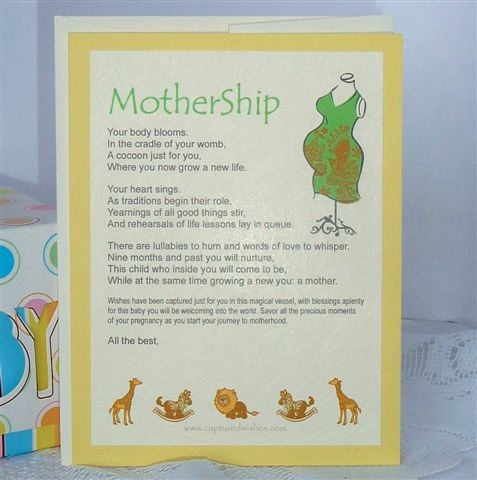 Verse card for expecting mothers - it will melt your heart!