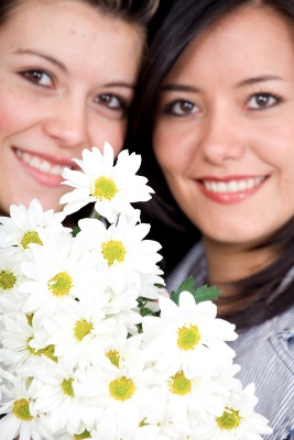 BFFs with daisy flowers but Captured Wishes does it better for BFF gifts!