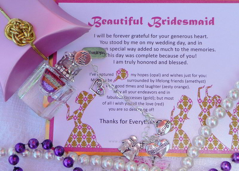 Bridesmaid Thank You Gifts From