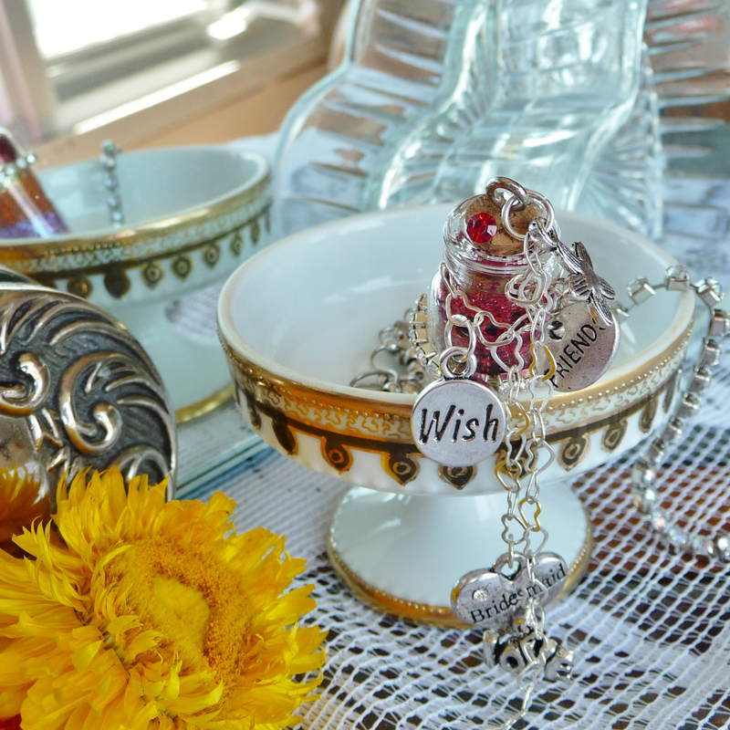 Bridesmaid thank you wish gift on display