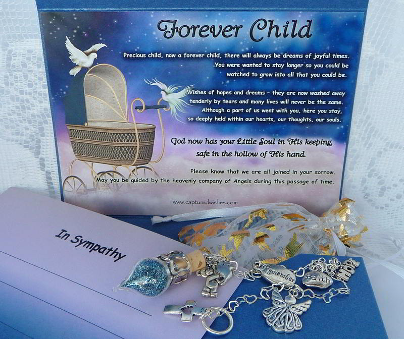 Forever Child sympathy gift for the loss of a child, from Captured Wishes