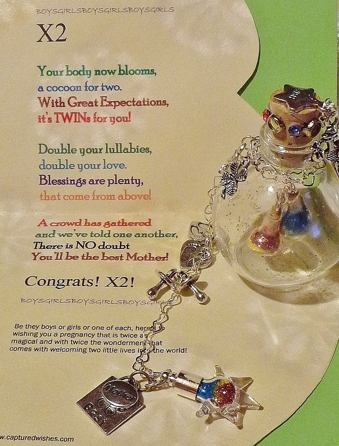miniature shoe captured in a tiny bottle themed for a newborn baby boy