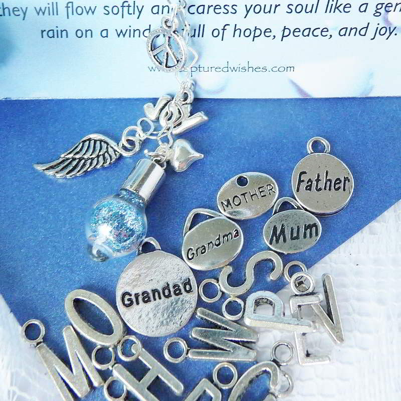 Personalization options to orderTears of Remembrance Sympathy wish vessel from Captured Wishes