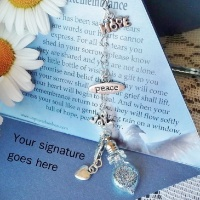 Tears of Remembrance Sympathy wish vessel gift and unique card from Captured Wishes