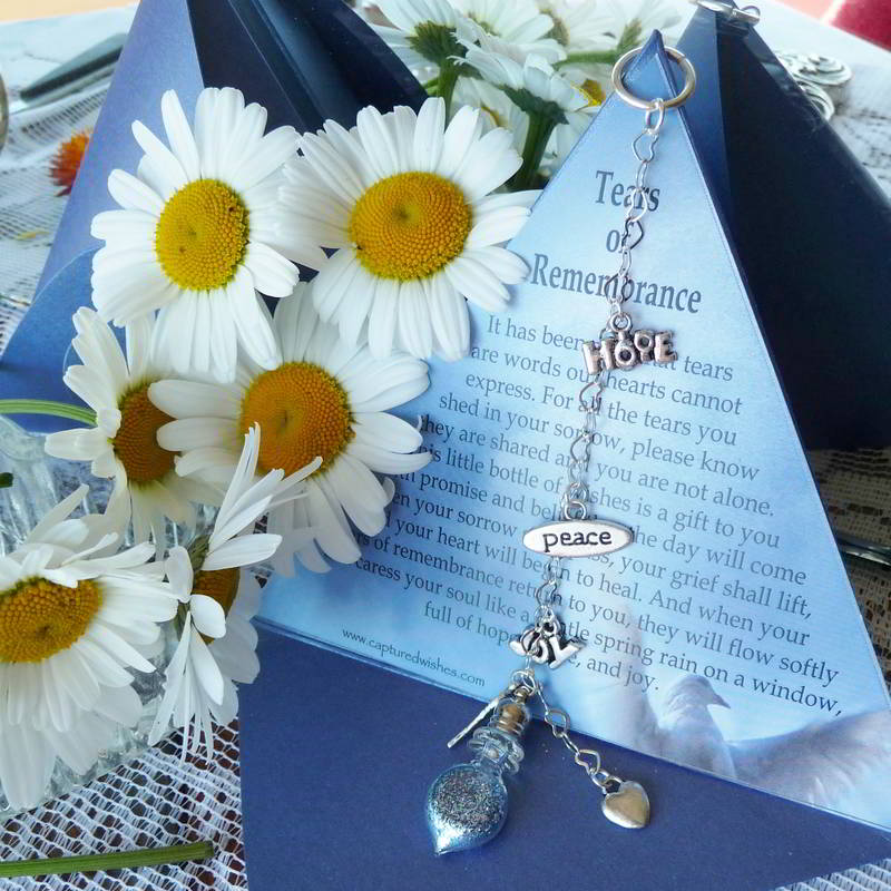 Tears of Remembrance is a perfectly crafted sympathy gift idea from Captured Wishes