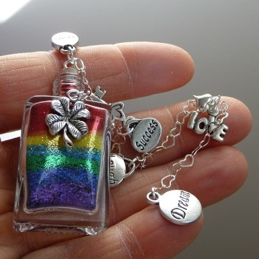 Slice of rainbow Good Luck Wishes vessel gift from Captured Wishes