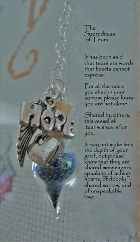 Unique sympathy gift ideas can be tear wish vessels