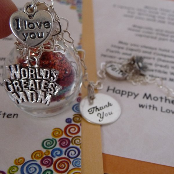 World's Greatest Mom charm on You Influence Me wish vessel Mother's Day gift from Captured Wishes
